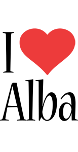 Alba i-love logo