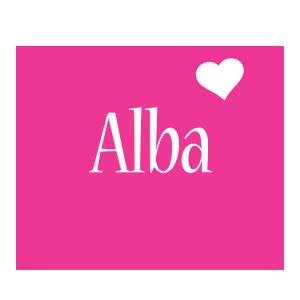 Alba love-heart logo
