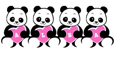 Alba love-panda logo