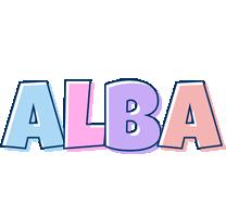 Alba pastel logo