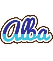 Alba raining logo