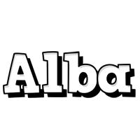 Alba snowing logo