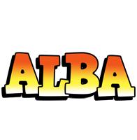 Alba sunset logo