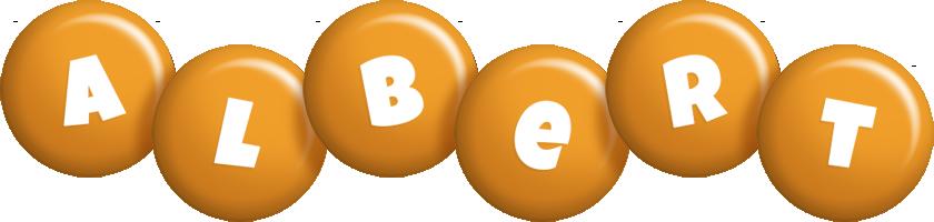 Albert candy-orange logo