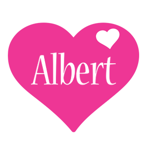 Albert love-heart logo