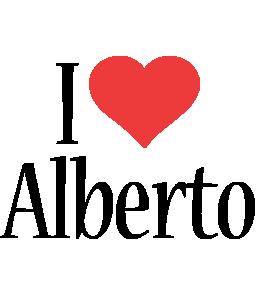 Alberto i-love logo