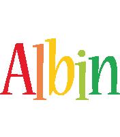 Albin birthday logo