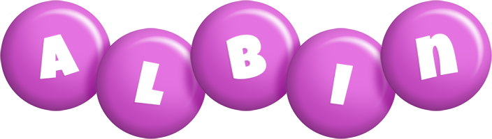 Albin candy-purple logo