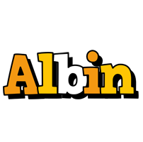 Albin cartoon logo