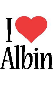 Albin i-love logo
