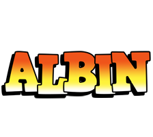 Albin sunset logo