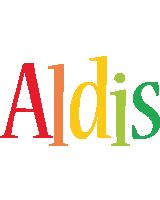 Aldis birthday logo