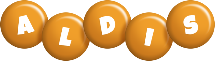 Aldis candy-orange logo