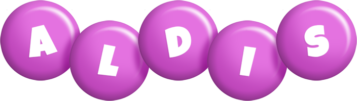 Aldis candy-purple logo