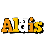Aldis cartoon logo
