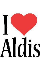 Aldis i-love logo