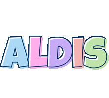 Aldis pastel logo