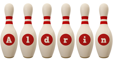 Aldrin bowling-pin logo