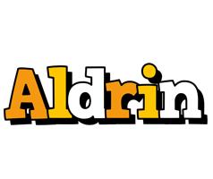 Aldrin cartoon logo