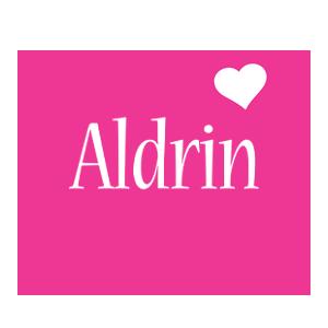 Aldrin love-heart logo