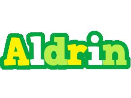 Aldrin soccer logo