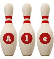 Ale bowling-pin logo