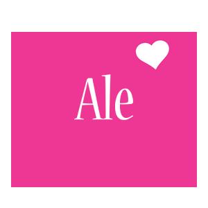 Ale love-heart logo