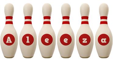 Aleeza bowling-pin logo