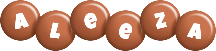 Aleeza candy-brown logo
