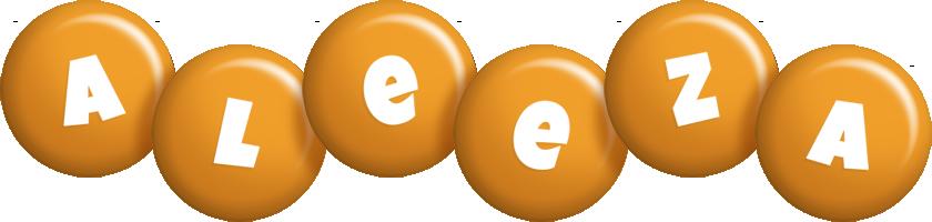Aleeza candy-orange logo