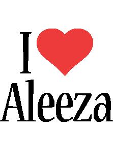 Aleeza i-love logo