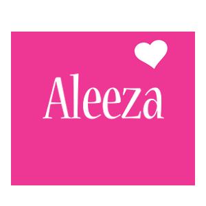 Aleeza love-heart logo