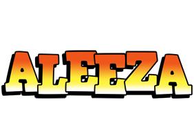 Aleeza sunset logo