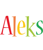 Aleks birthday logo