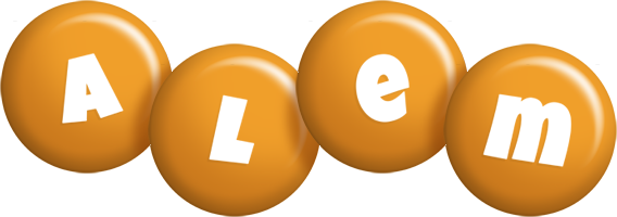 Alem candy-orange logo
