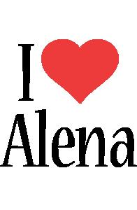 Alena i-love logo