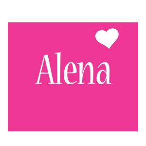 Alena love-heart logo