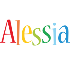 Alessia birthday logo