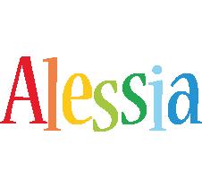 Alessia birthday logo