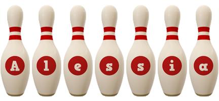 Alessia bowling-pin logo