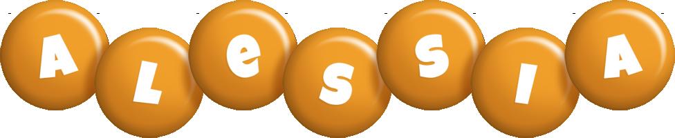 Alessia candy-orange logo