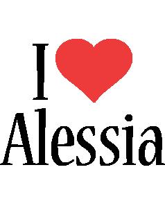 Alessia i-love logo