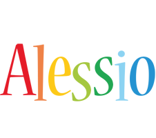 Alessio birthday logo
