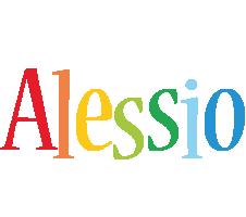 Alessio birthday logo
