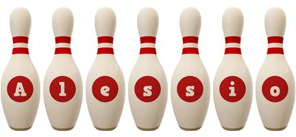 Alessio bowling-pin logo