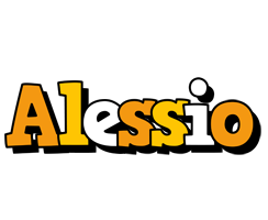 Alessio cartoon logo