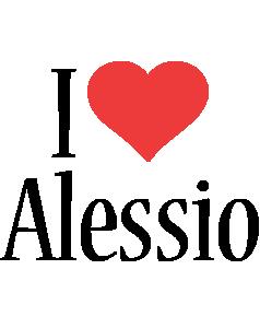 Alessio i-love logo