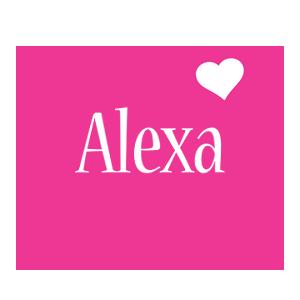 Alexa Logo Name Logo Generator I Love Love Heart