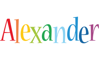Alexander birthday logo