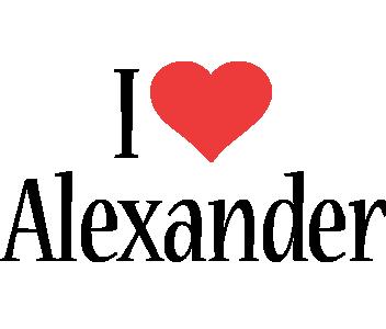 Alexander i-love logo